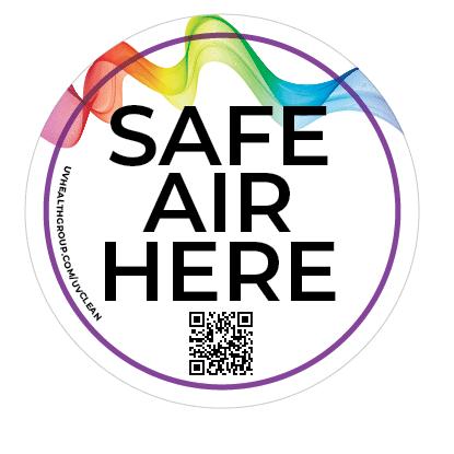 safe air here sticker